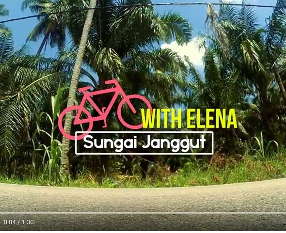 Bike with Elena in Sungai Janggut