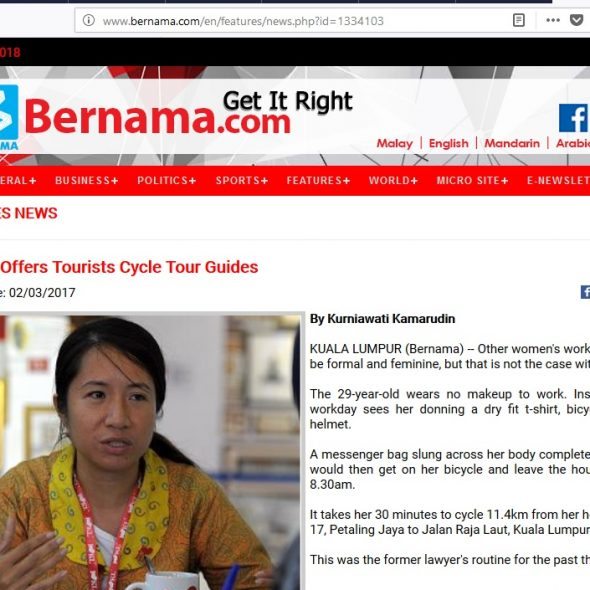 Woman Offers Tourists Cycle Tour Guides