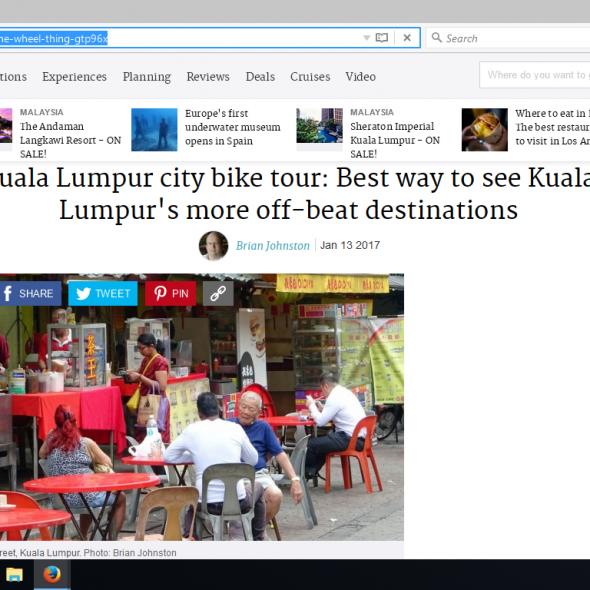 Kuala Lumpur city bike tour: Best way to see Kuala Lumpur's more off-beat destinations