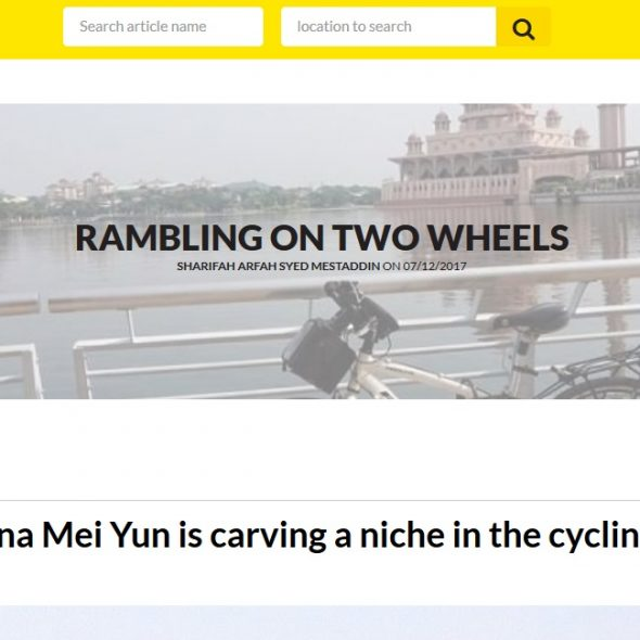 Avid cyclist Elena Mei Yun is carving a niche in the cycling tour industry