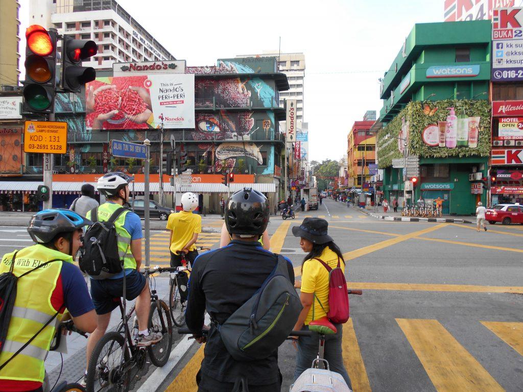 Guided cycle tour in Kuala Lumpur Malaysia